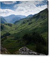 Summit View To Scaffell Canvas Print