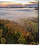 Sun And Fog Canvas Print