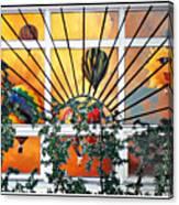 Sun And Hot Air Canvas Print