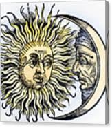 Sun And Moon, 1493 Canvas Print