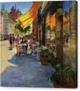 Sun And Shade On Amsterdam Avenue Canvas Print
