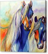 Sun And Shadow Equine Abstract Canvas Print