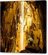 Sun Beam In Cave. Canvas Print