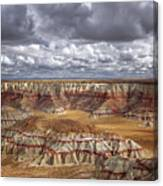 Sun Breaks And Passing Clouds Over Arizona's Remote Ha Ho No Geh Canyon. Canvas Print