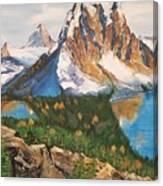 Sun Burst Peak Canada  Canvas Print