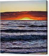 Sun-down Canvas Print