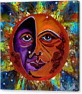 Sun Duality Canvas Print