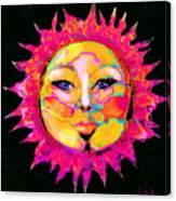 Sun Goddess She Sun Canvas Print