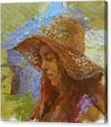 Sun Hat #1 Canvas Print