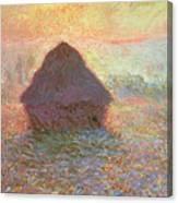 Sun In The Mist Canvas Print
