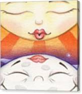 Sun Kissed Moon Canvas Print