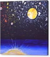 Sun Moon And Stars Canvas Print