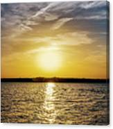Sun On The Lake Canvas Print
