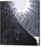 Sun Over Barbed Wire Canvas Print