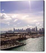 Sun Over Miami Canvas Print