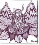 Sun Phoenix Flower Of Flame Canvas Print