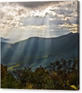 Sun Rays Linville Falls Nc Canvas Print