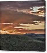 Sun Rays On Colorado Sage Canvas Print