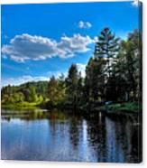 Sun Reflecting On The Moose River Canvas Print