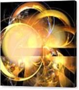 Sun Rings Spiral Canvas Print