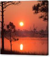 Sun Rise At Red Lake Grayton Beach State Park Florida Canvas Print