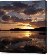 Sun Rise At West Lake In The Everglades Canvas Print