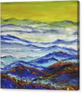 Sun Rise Blue Mountain Canvas Print