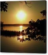 Sun Rise, Hamlin Lake Photograph Canvas Print