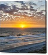 Sun Rising Over Atlantic Canvas Print