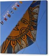 Sun Sailing Canvas Print