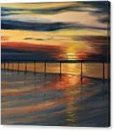 Sun Set At Seabridge Canvas Print