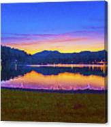 Sun Set On Lake Lure Canvas Print