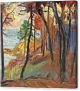 Sun Set On The River Risle Canvas Print