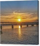 Sun Set Shoals Canvas Print