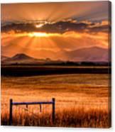 Sun Sets On Summer Canvas Print