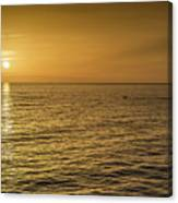 Sun Setting In Barbados Canvas Print