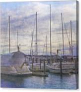 Sun Setting Sun In Newport  Canvas Print
