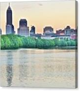Sun Rise In Indianapolis Canvas Print