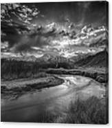 Sun Setting On The Owens River Canvas Print
