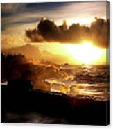 Sun Setting On The Pacific Canvas Print