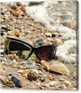 Sun Shades And Sea Shells Canvas Print