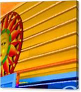 Sun Shopping Canvas Print
