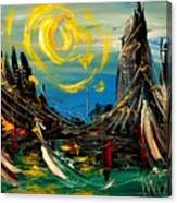 Sun Sin City Canvas Print