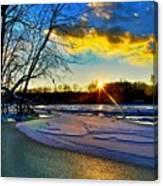 Sun Snow Ice Canvas Print