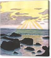 Sun Streaming Through Clouds Canvas Print