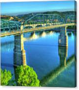 Sun Up Reflections Chattanooga Tennessee Canvas Print