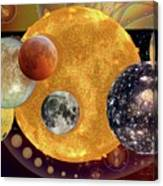 Sun With Planet Moons Canvas Print