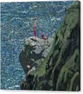 Sunbathers Cornwall Canvas Print