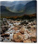 Sunbeams, Glencoe, Scotland Canvas Print