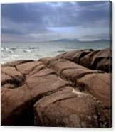 Sunbreak Over The Shoreline Canvas Print